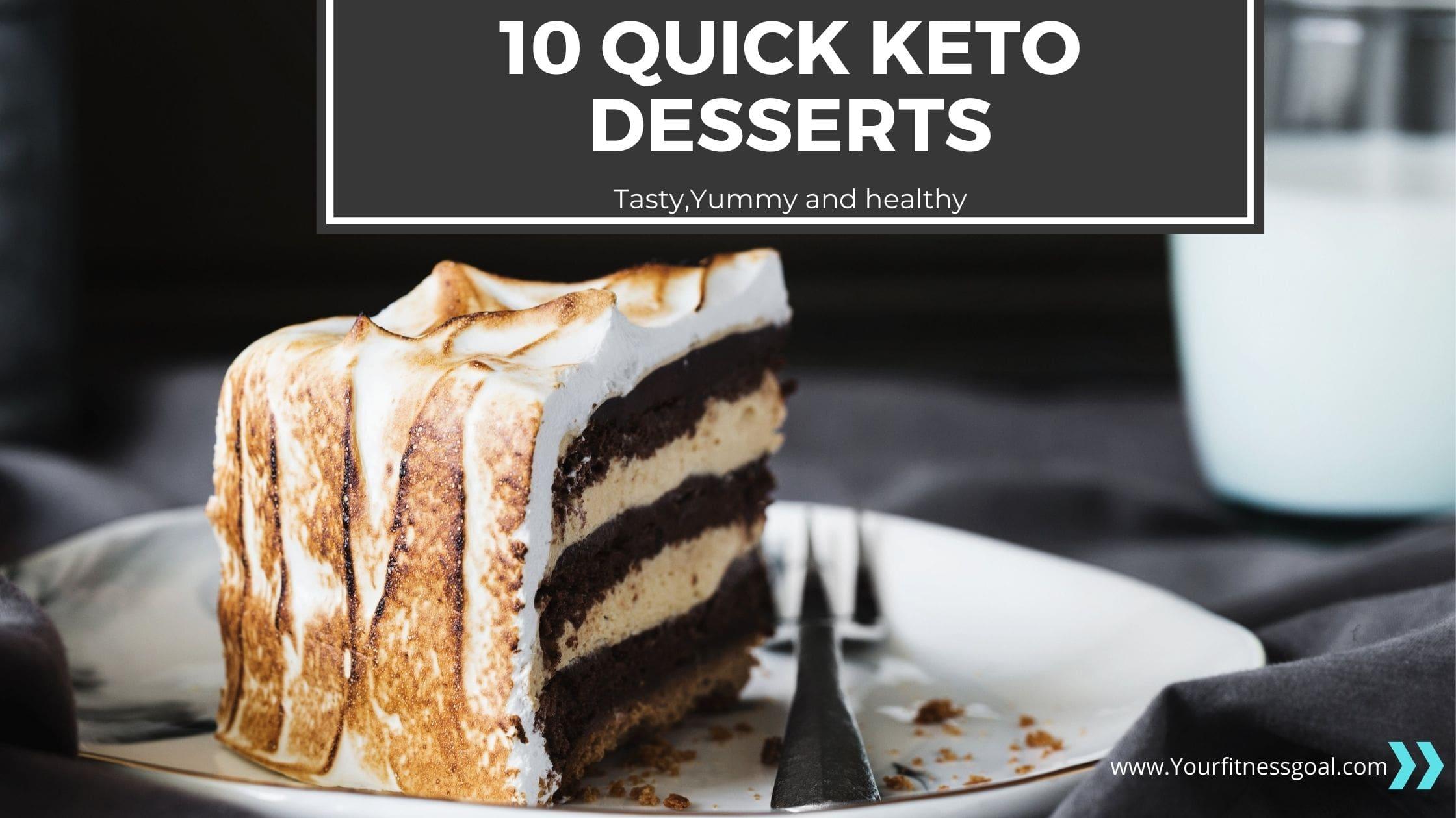 10 Quick Keto Dessert Recipes 2020 Best Low Carb Desserts Yourfitnessgoal